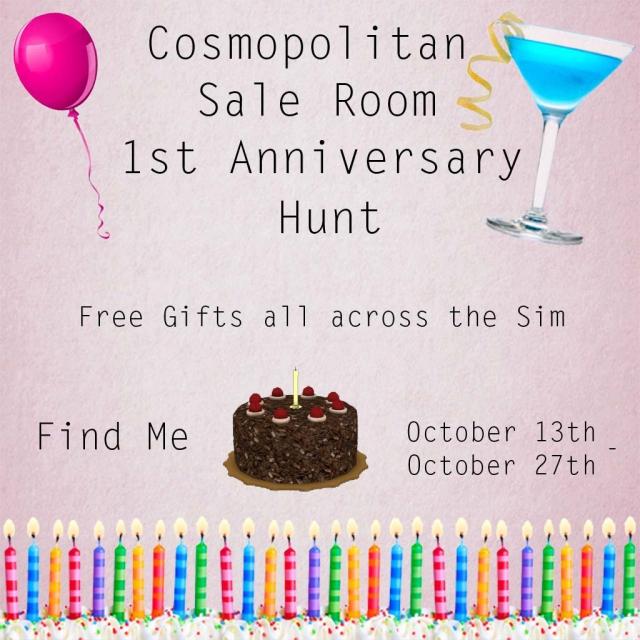 Cosmopolitan Sale Room 1st Anniversary Hunt